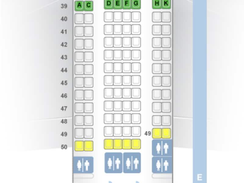 窓際の2席