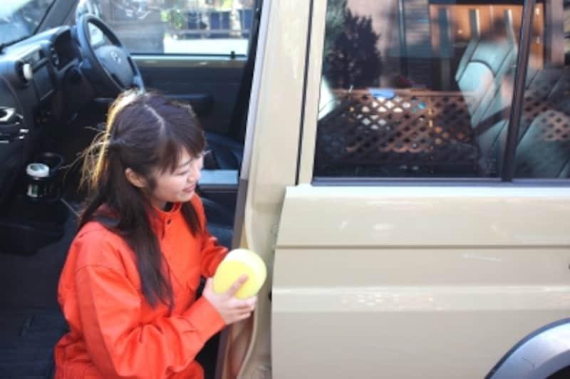 車内に水が入らないように注意しながら洗浄しましょう。