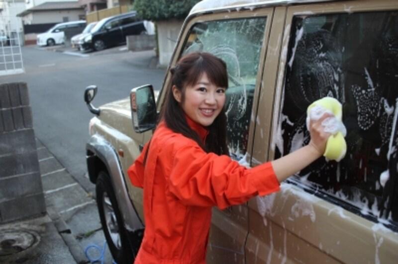 自分で手洗い洗車しましょう!