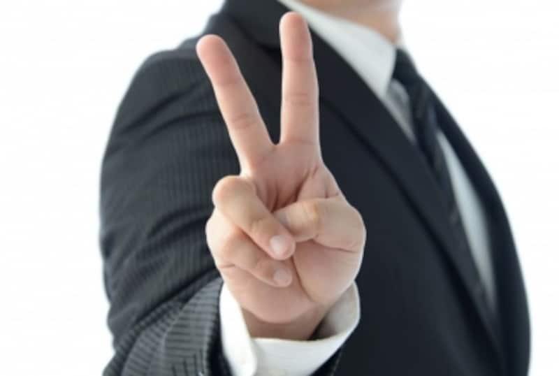 ピースサインは平和の象徴とは限らない