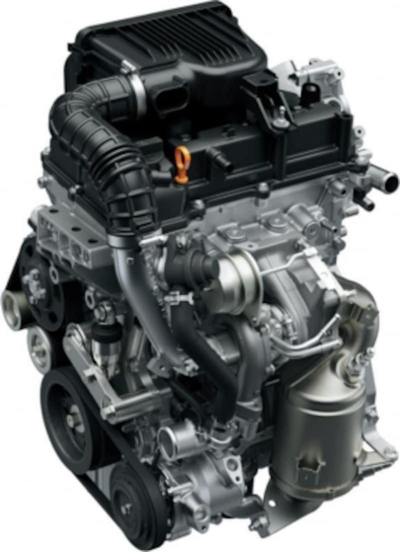クロスビーに搭載された1000cc直噴ターボエンジン。マイルドハイブリッドでターボの弱点である燃費をカバー