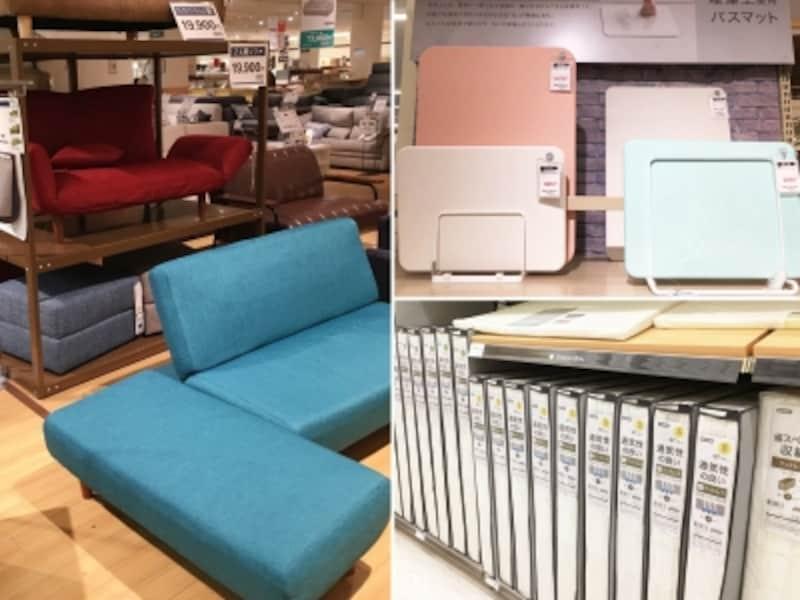 ニトリアプリ活用法。手ぶらdeショッピング機能を使えば、ベッドや収納棚などの大きなものの購入時に、より手軽に通販ができる