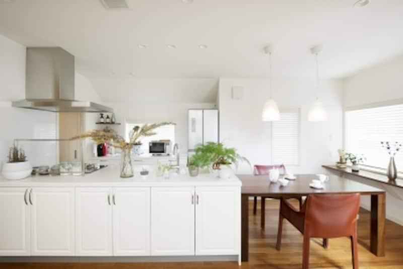 社員の家undefined白いキッチンは三井ホームのオリジナル