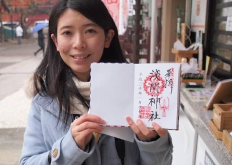 浅草神社で御朱印をいただいた