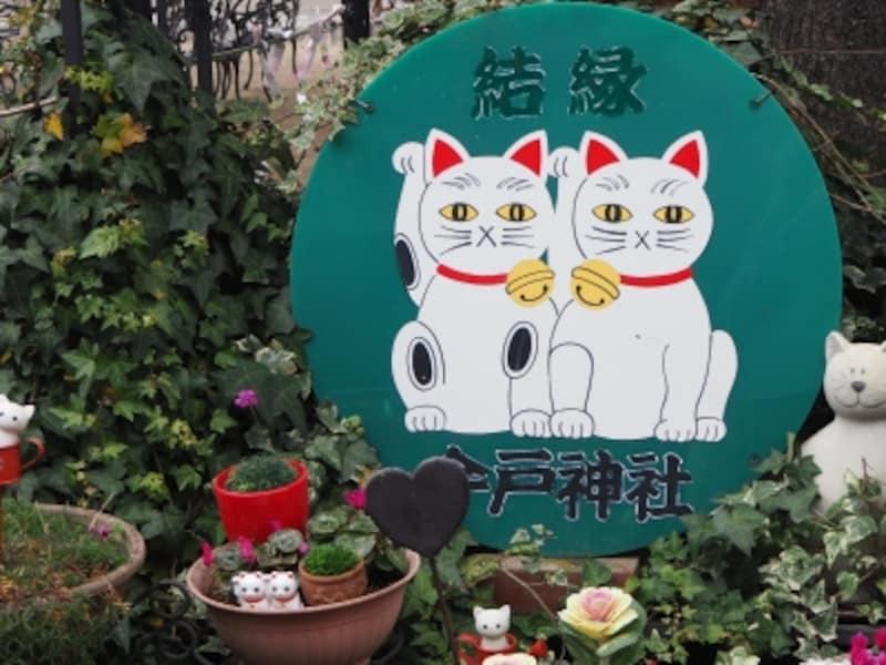 浅草のかわいい御朱印をいただける神社には招き猫モチーフのじょうろが無数にある