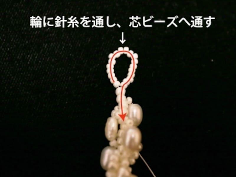ループの編み戻り