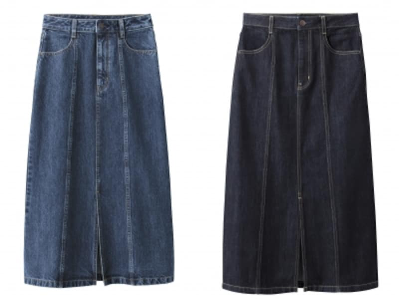デニムフロントスリットミディスカート1990円(税抜)