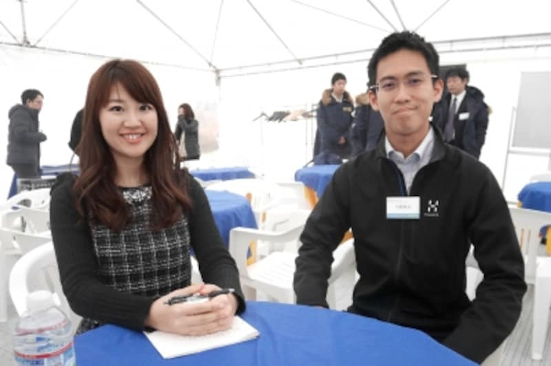 インタビューに快く応じてくれたのは、日本グッドイヤーの中島さん。新製品は最終的に中島さんが品質チェックを行い、合格してはじめて販売されるそうです。