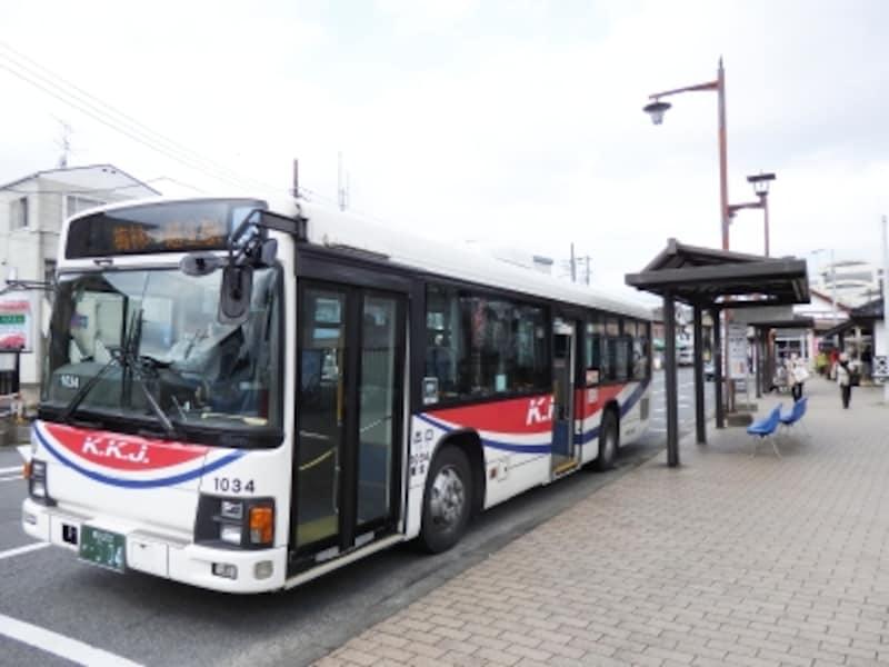梅まつり期間中に運行される越生駅からのシャトルバス