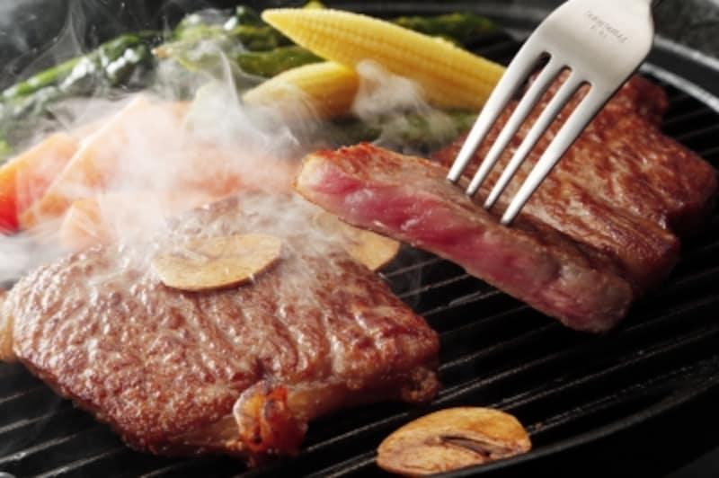 ステーキは野菜と一緒で効率アップ!