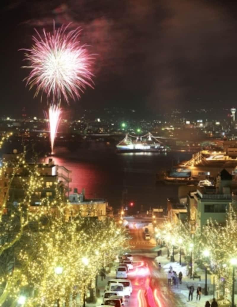 函館海上花火とイルミネーション