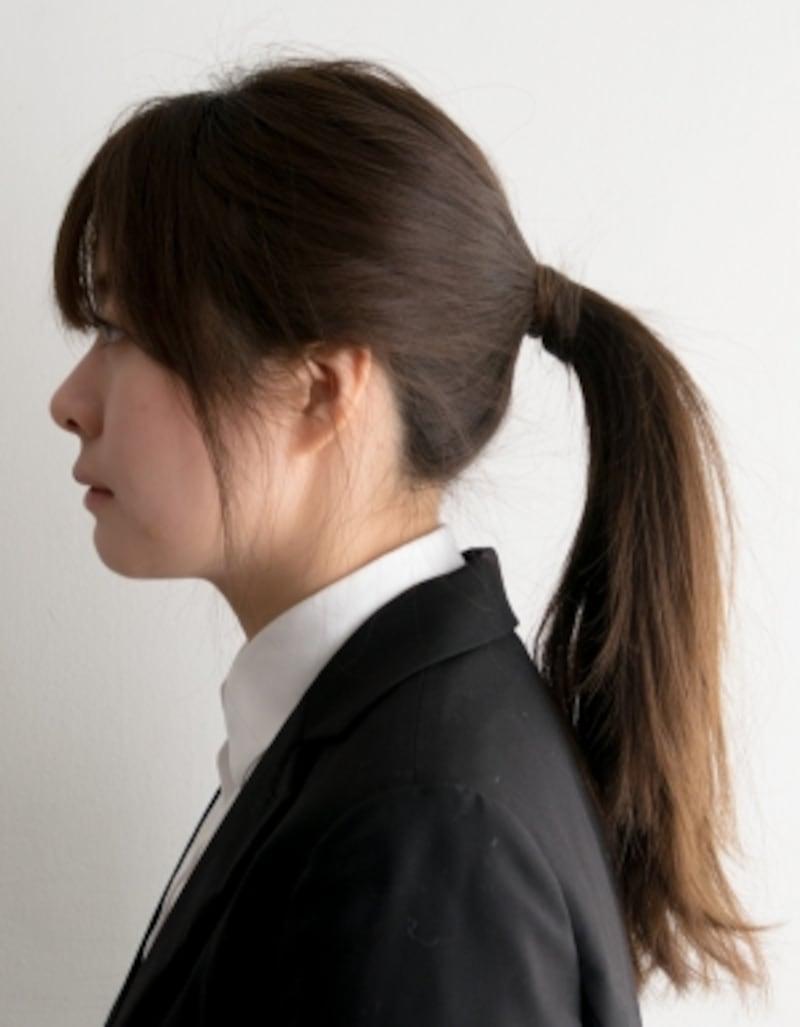 NG例)髪で耳が隠れてしまうと爽やかさが半減してしまう