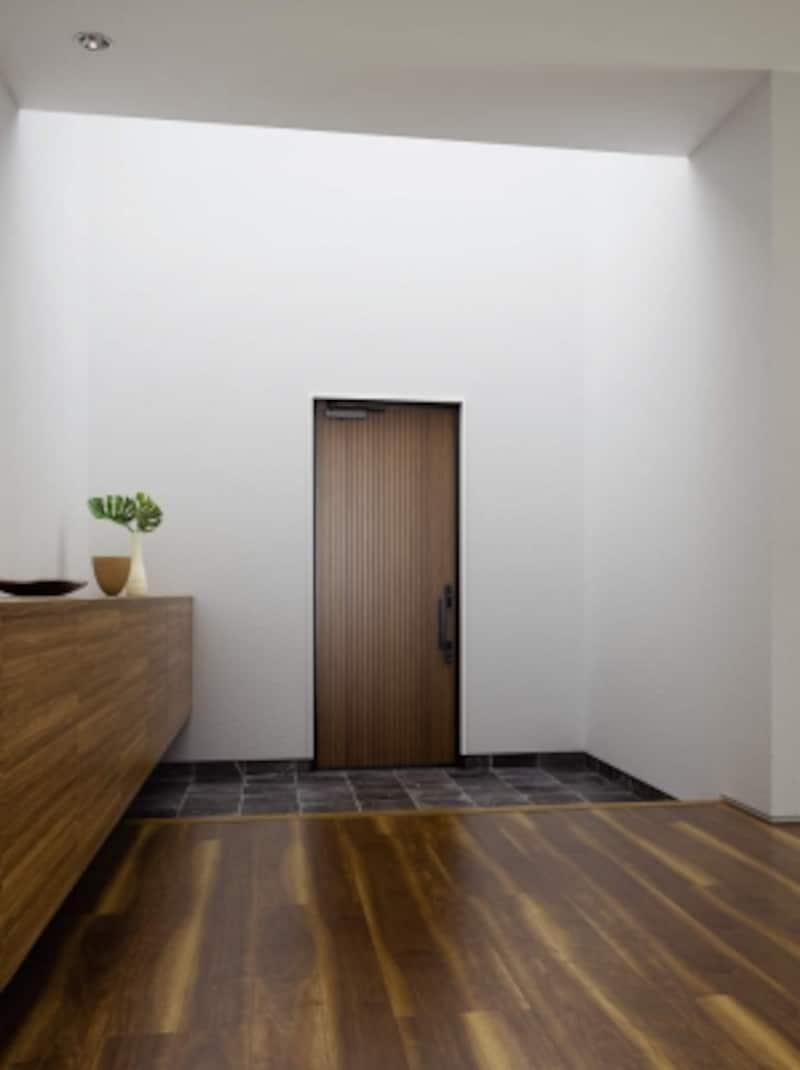 鋼製玄関ドアとしての断熱性能U値0.90を実現。扉内外には高耐候天然木を加飾。[高断熱玄関ドアイノベストD70片開き002DF:ダークW]undefinedYKKAPhttp://www.ykkap.co.jp/s