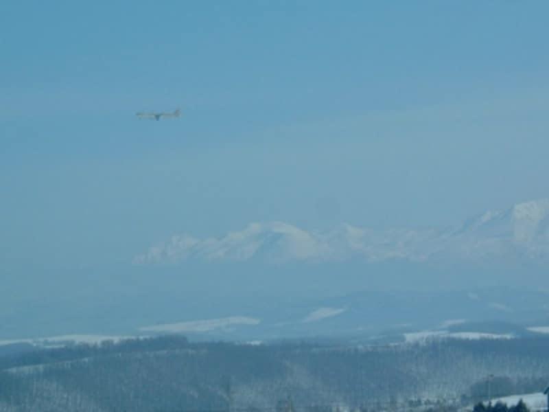 冬の北西の丘展望公園からの眺め