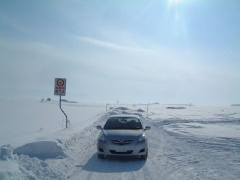 美瑛の丘を巡る道は冬季通行止めの所もあるので要注意!