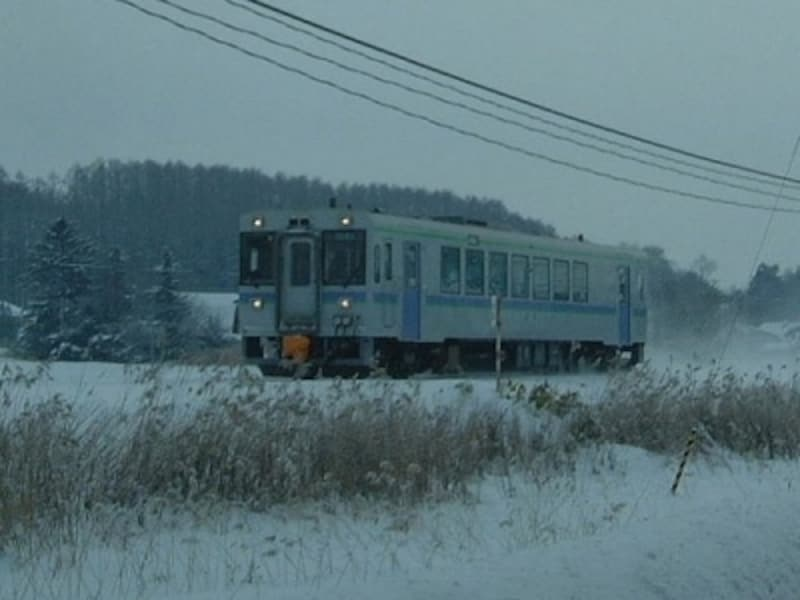 旭川から美瑛へ向かうJR富良野線の列車