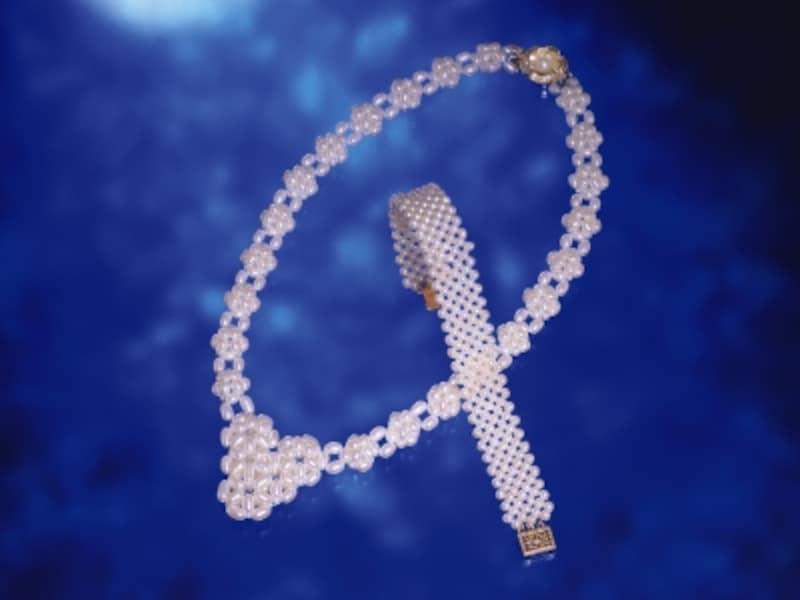真珠のネックレス,ピンクパール,淡水パール,サマータイプ