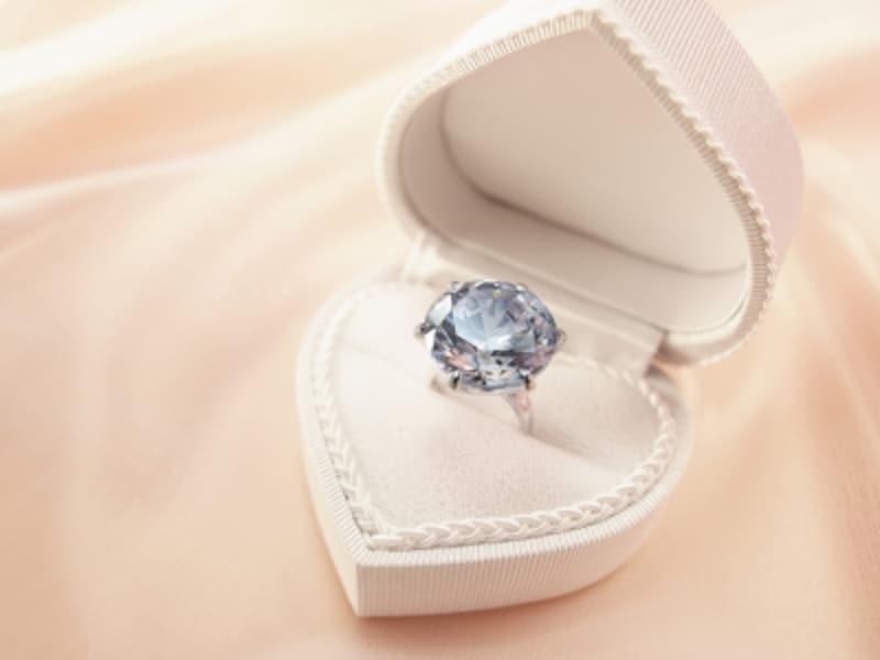 アクアマリンのリング,透明感,透き通る,サマータイプ