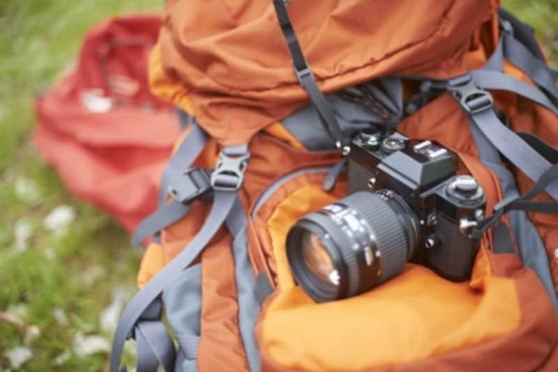 リュックとカメラ