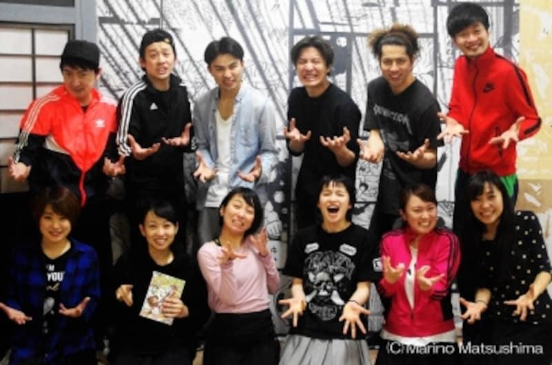『ツクリバナシ』稽古場にて、キャストの皆さん。(C)MarinoMatsushima
