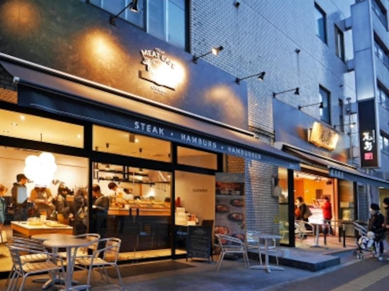 精肉店「尾島商店」の隣りにオープンした「MeatCafeOJIMA(ミートカフェオジマ)」(2018年1月7日撮影)