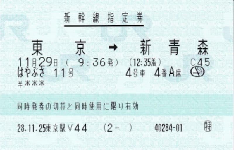 パスで取った指定券