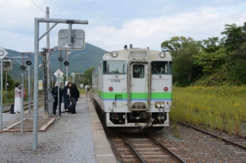 根室本線東鹿越駅にて