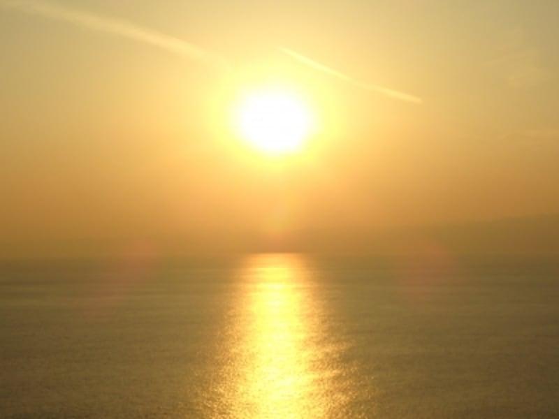 江の島シ―キャンドルから望む夕陽