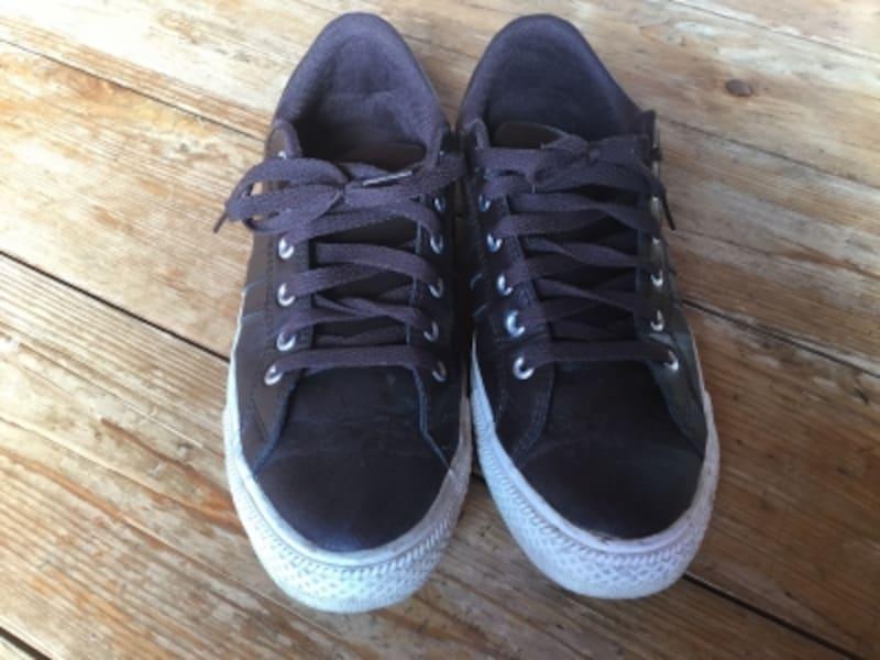 靴を正面から撮影