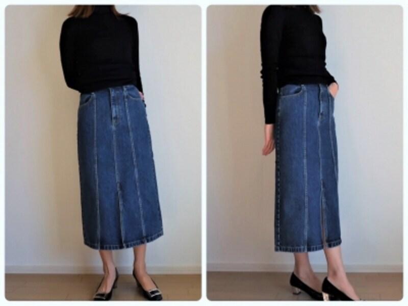 GUデニムスカート