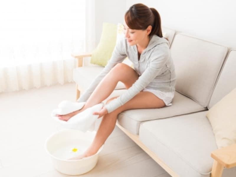 入浴や足湯で身体を温める