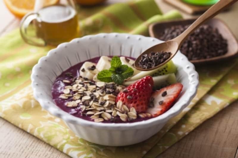 朝チョコはヨーグルトや豆乳のタンパク質とともに!