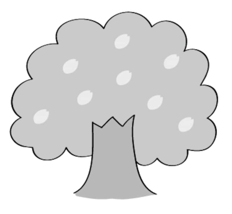 画像 1628 桜さくらのかわいい無料イラスト素材 白黒カラー Web