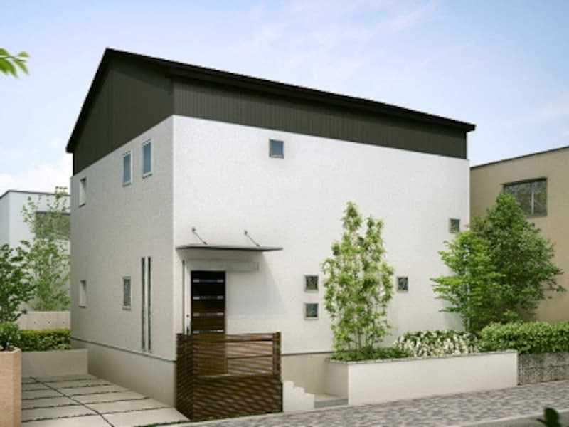 すっきりとした屋根形状でモダンな外観に。[玄関引戸undefinedエルムーブ16型]undefinedLIXILundefinedhttp://www.lixil.co.jp/