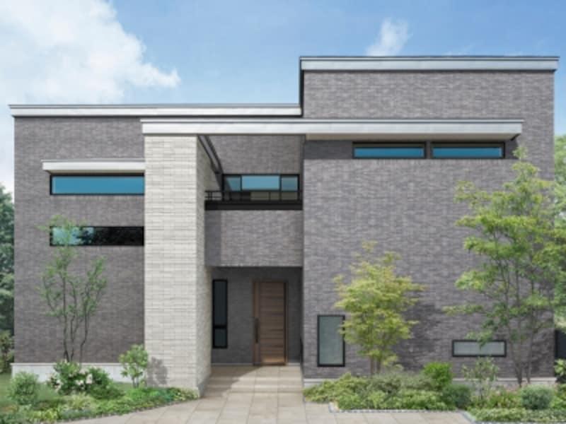 風格と重厚さを生み出すスクエアなデザイン。[玄関ドアundefinedグランデル2]undefinedLIXILundefinedhttp://www.lixil.co.jp/