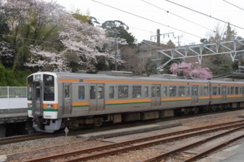 東海道本線の金谷駅