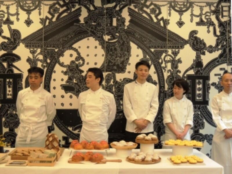 リベルテのお菓子とパンを担当する若き職人さんたち
