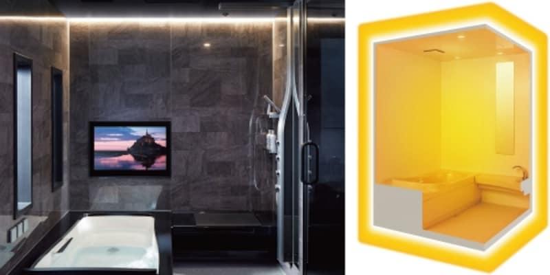 天井・壁・床に保温材を追加するなどして、断熱性を高めたシステムバスも増えている。空間全体を保温できるタイプも。[SPAGE(スパージュ)天井・壁・床まるごと保温]undefinedLIXILundefinedhttp://www.lixil.co.jp/