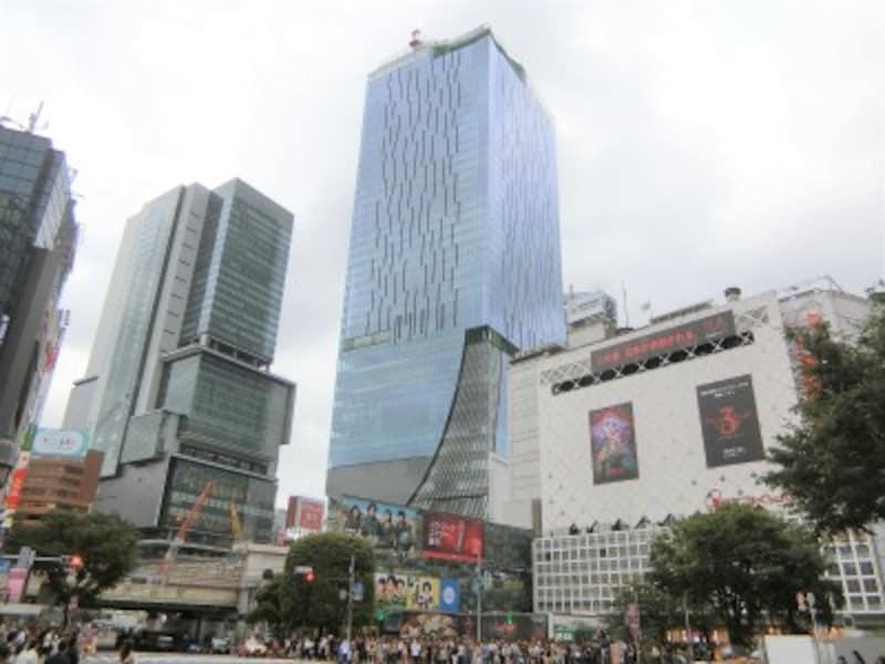 「渋谷スクランブルスクエア」の建設が進む渋谷駅前