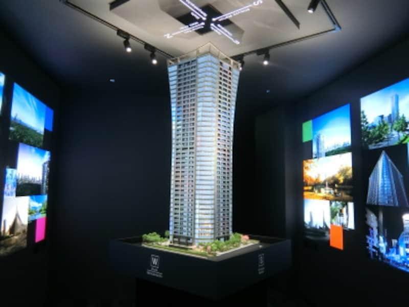 「パークコート渋谷ザタワー」の完成予想模型