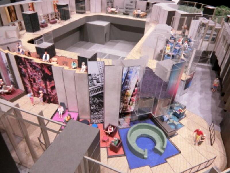 「パークコート渋谷ザタワー」の共用部完成予想模型