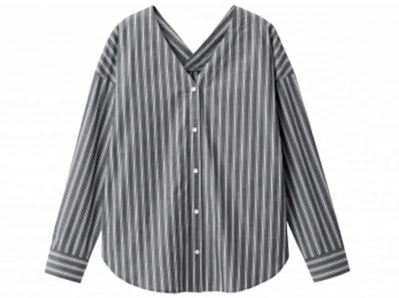 GUストライプVネックシャツ長袖undefined1990円(税抜)