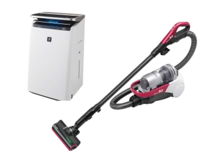 室内の空気をきれいにするために、掃除機と空気清浄機を用意しましょう