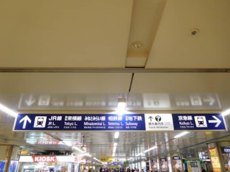 横浜駅の案内看板