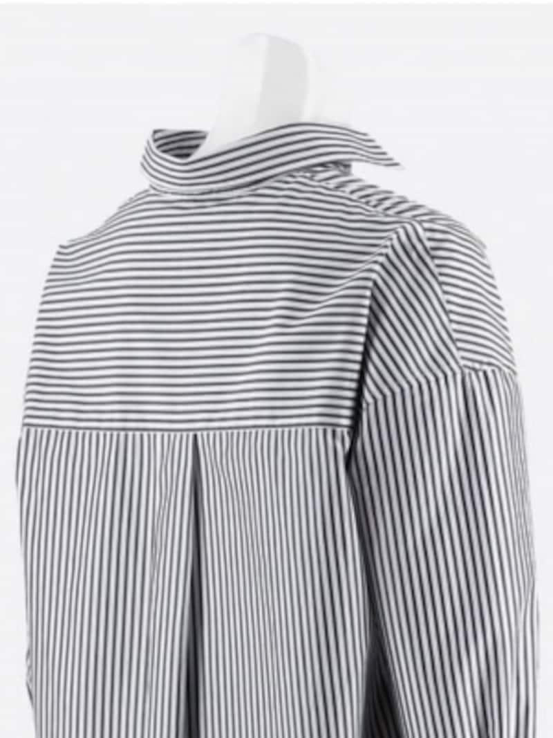 UNIQLO,エクストラファインコットンシャツ,エクストラファインコットンストライプシャツ,抜き襟