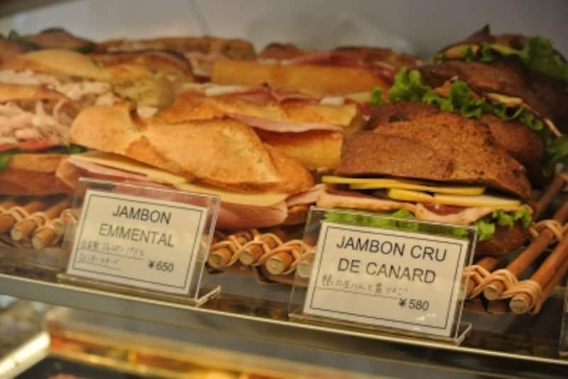 サンドイッチのいろいろ