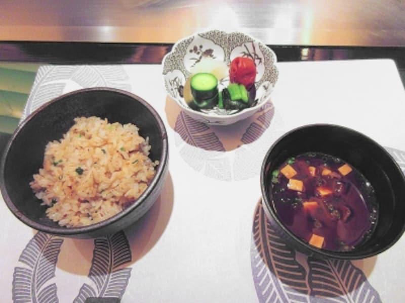 帝国ホテル東京嘉門ご飯味噌椀香の物