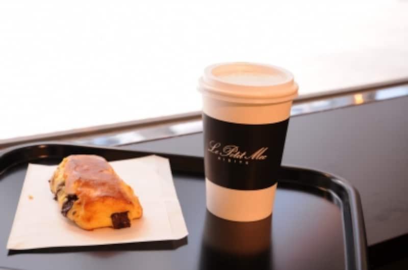 Unirのコーヒーとオレンジとチョコのブリオッシュ