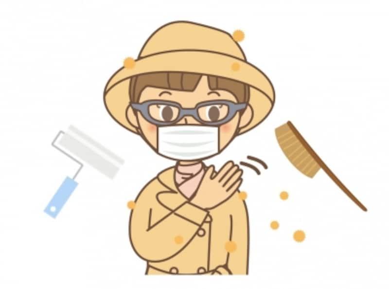 外出の際は眼鏡とマスクをかけ、帰宅したら花粉を払い落としましょう