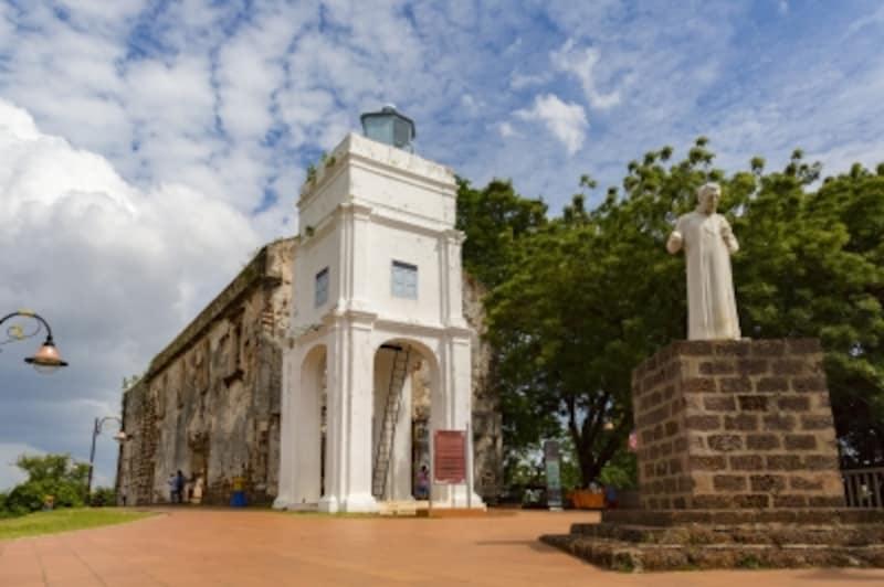 マラッカundefinedセント・ポール教会undefined宣教師ザビエルの像